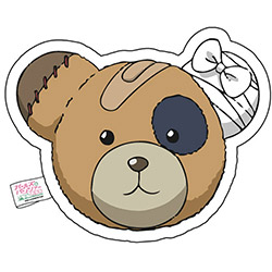 ガールズ&パンツァー ボコられグマのBOCO クッション フェイス