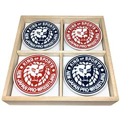 新日本プロレス×美濃焼 ライオンマーク豆皿 4枚セット(霧箱入り)