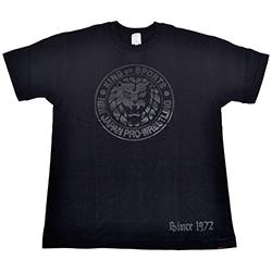 新日本プロレス×久米繊維 Tシャツ ブラック×クリア