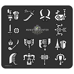 モンスターハンター:ワールド マウスパッド 武器アイコン