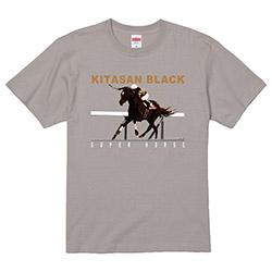スーパーホース列伝 キタサンブラック プリントTシャツ