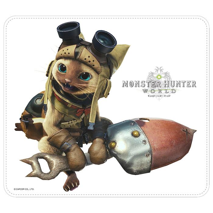 モンスターハンター:ワールド マウスパッド オトモアイルーA