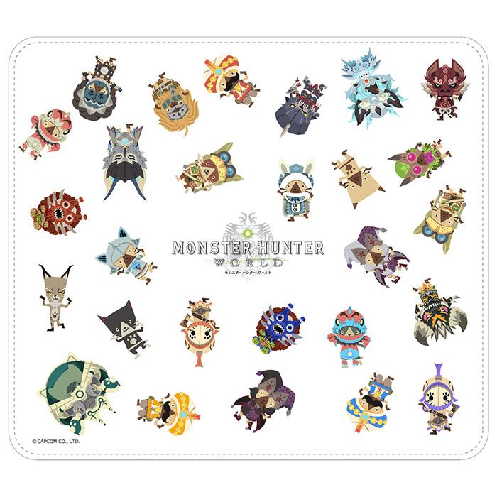 モンスターハンター:ワールド マウスパッド オトモアイルーB