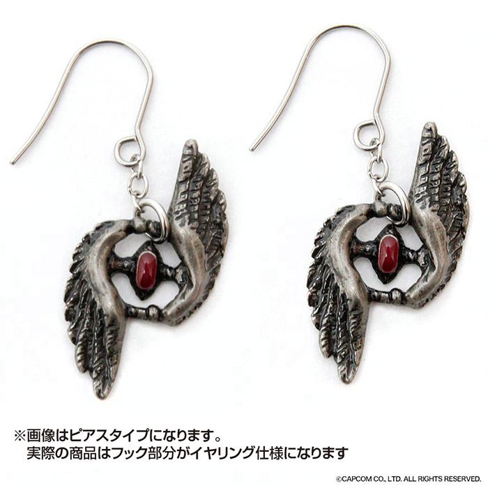 DEVIL MAY CRY 5×haraKIRI ネロ フェザーイヤリング(2個1組)