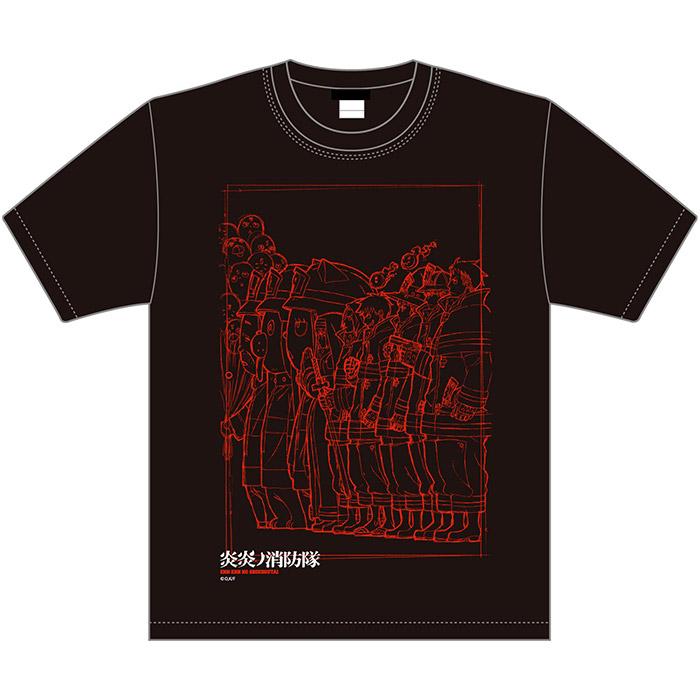 炎炎ノ消防隊×久米繊維 コラボTシャツ ビジュアル