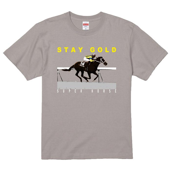 スーパーホース列伝 ステイゴールド プリントTシャツ